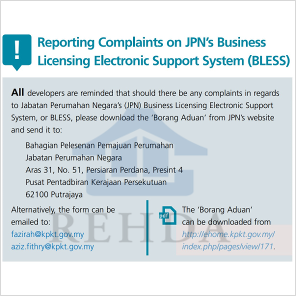 (2019/04) Reporting Complaints on JPN's Business Licensing Electronic Support System (BLESS)