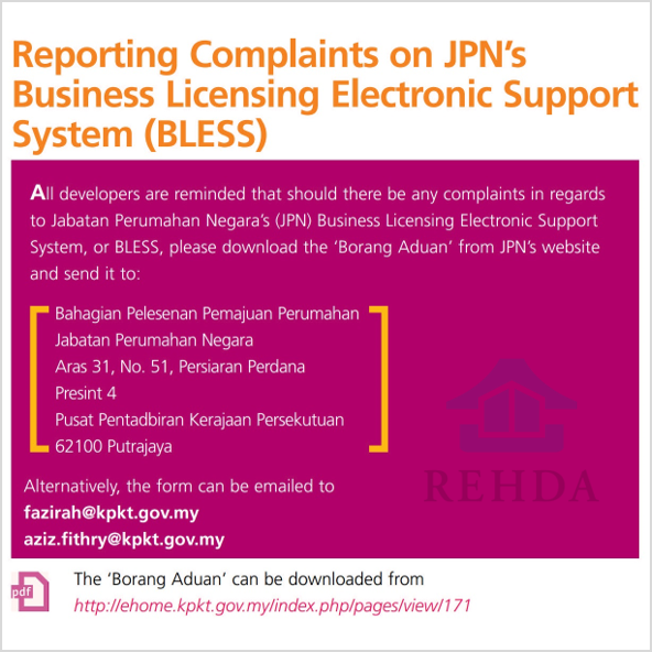 (2019/09-i) Reporting Complaints on JPN's Business Licensing Electronic Support System (BLESS)