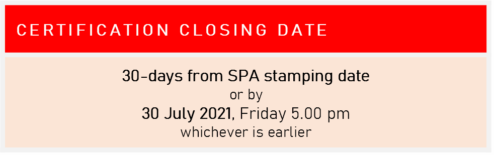 Certification - Closing Date