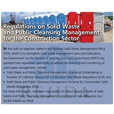 (2020/04-05) Regulations on Solid Waste and Public Cleansing Management for the Construction Sector
