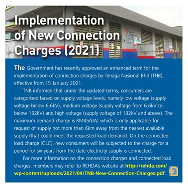 (2021/01-02-i) Implementation of New Connection Charges (2021)